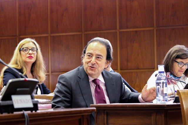 Luis Aznar, portavoz del PP en la Comisión de investigación del Senado