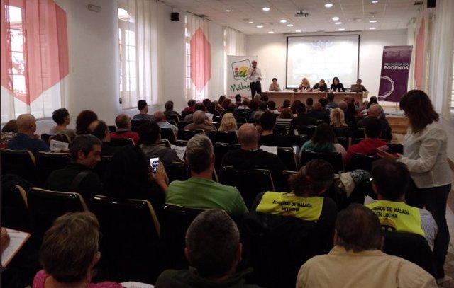 Foto del anterior encuentro de  Podemos e IU