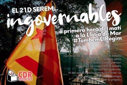 CDR, ANC y Òmnium movilizan al independentismo para boicotear el Consejo de Ministros del 21-D en Barcelona