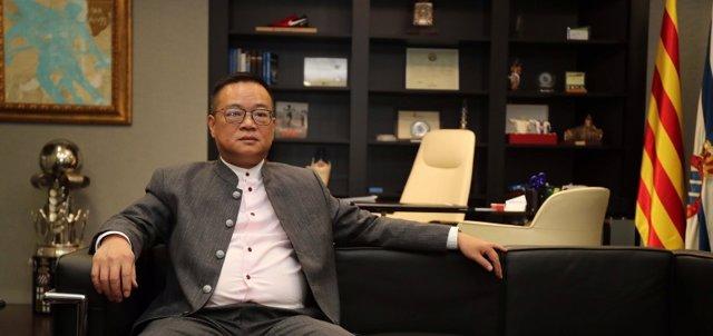 El presidente del RCD Espanyol, Chen Yansheng
