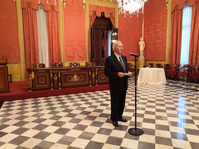 El president de la Cambra de Barcelona, Miquel Valls