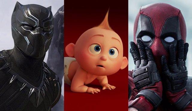 Black Panther, Los Increíbles 2 y Deadpool 2
