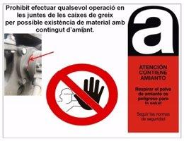 Aviso por posible presencia de amianto en la web monográfica de TMB