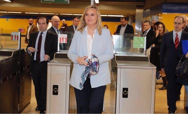 Rosalía Gonzalo en las instalaciones de Metro de Madrid