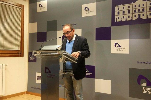 El presidente de la Diputación de Soria, Luis Rey
