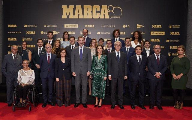 Javier Fernández, Mireia Belmonte e Iker Casillas, entre los galardonados en el 80º aniversario del diario 'Marca'
