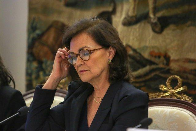 """Carmen Calvo en la presentación del libro """"Estudios sobre la reforma de la Con"""