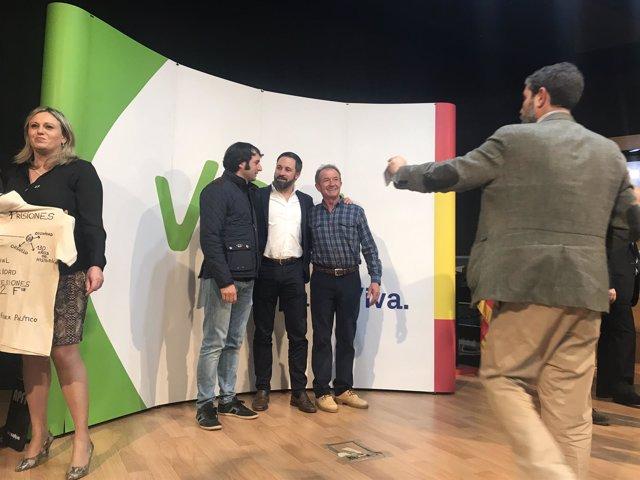 Santiago Abascal, en el acto celebrado en Teruel