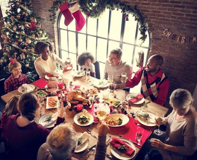 Navidad, comida, nochebuena