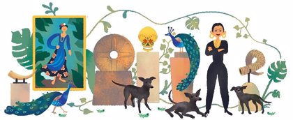 Google recuerda el 110 aniversario del nacimiento de la coleccionista de arte mexicana Dolores Olmedo con un 'doodle'