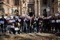 PERIODISTAS SE CONCENTRAN ANTE EL TRIBUNAL DE JUSTICIA DE CATALUNA POR LA LIBERTAD DE PRENSA Y EL SECRETO PROFESIONAL