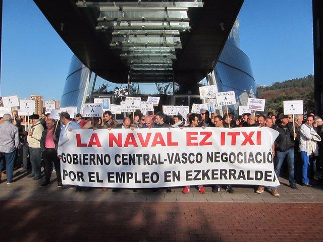 Comité de La Naval se concentra en Bilbao este miércoles por una solución