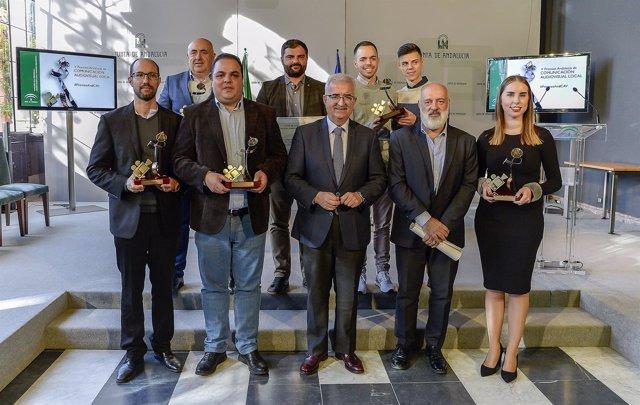 Jiménez Barrios, con los Premios Andalucía de Comunicación Audiovisual Local