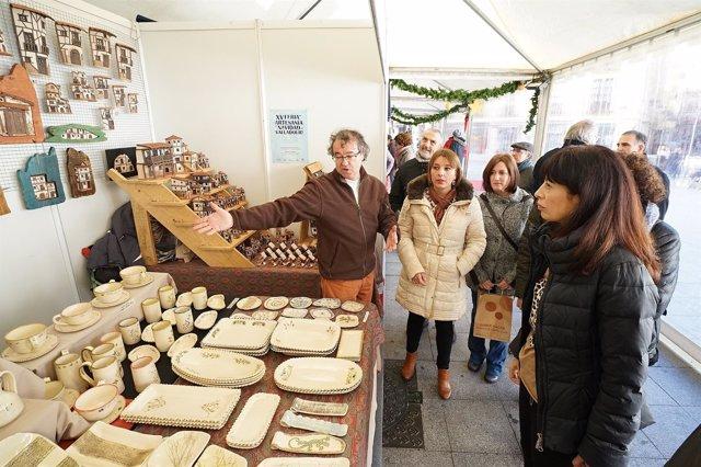 Inauguración de la Feria de Artesanía de Navidad en Valladolid. 14-12-18