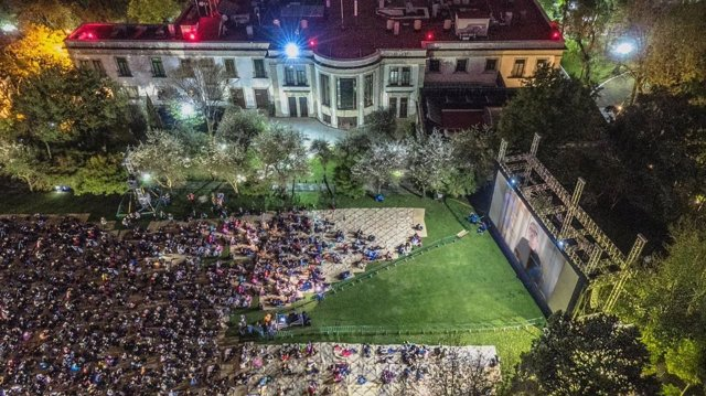 Proyección de 'Roma', de Alfonso Cuarón, en Los Pinos