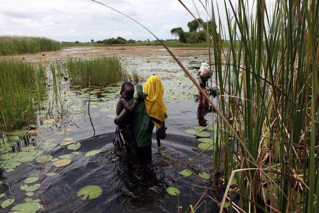 Niños desplazados internos en Sudán del Sur