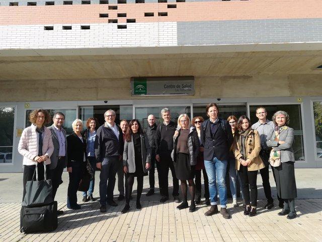 Visita de expertos al centro de salud Palmeritas de Sevilla