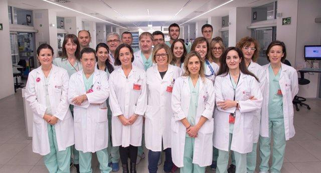 Equipo de UCI del Complejo Hospitalario de Navarra