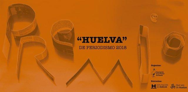Cartel sobre el Premio Huelva de Periodismo