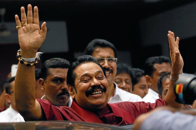 El ex presidente de Sri Lanka, Mahinda Rajapaksa