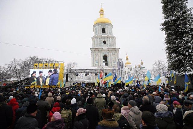 Acto en la Catedral de Santa Sofía de Kiev