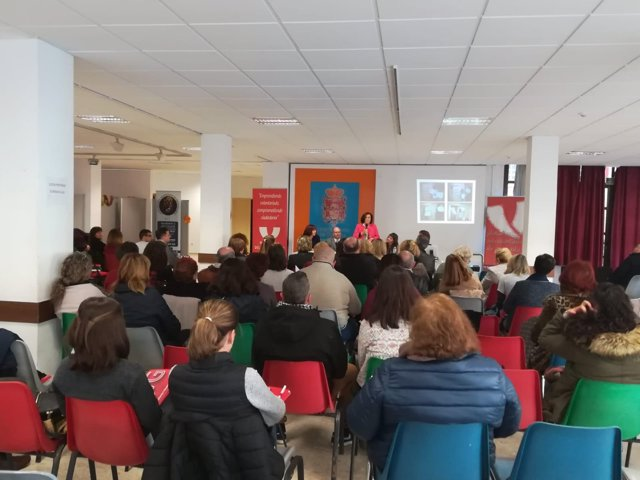 Sánchez Rubio en un acto de la Plataforma de Voluntariado de Granada