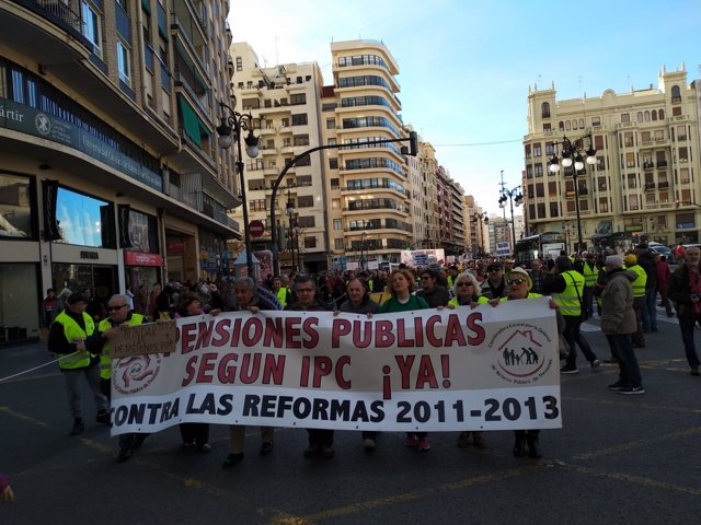 Manifestación de la Coord.ª Por el Sistema Público de Pensiones