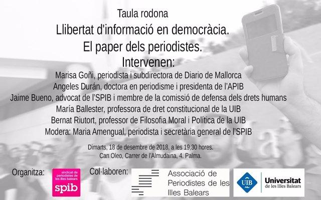 Cartel del debate público del SPIB