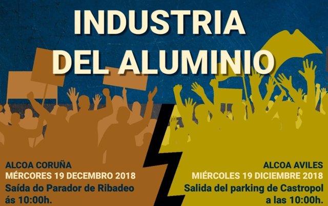 Trabajadores de la planta avilesina de Alcoa marcharán este miércoles por el futuro de la industria del aluminio