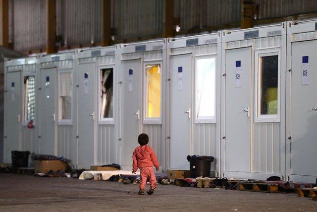 Campo de inmigrantes y refugiados en Bihac, Bosnia