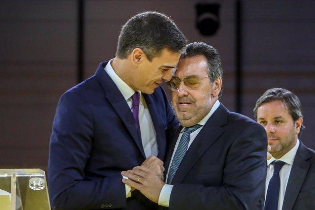 El presidente del Gobierno, Pedro Sánchez, asiste al acto de conmemoración del 8
