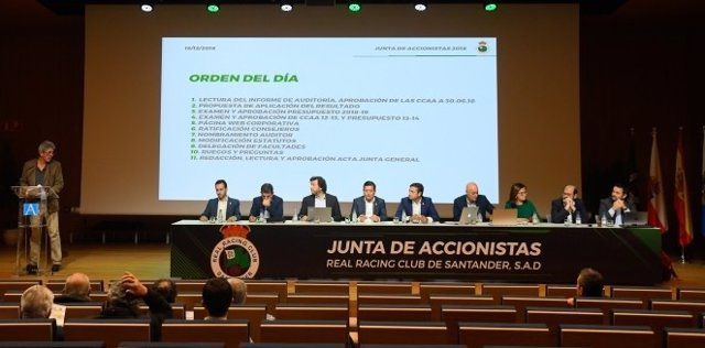 Junta de Accionistas del Racing, diciembre de 2018