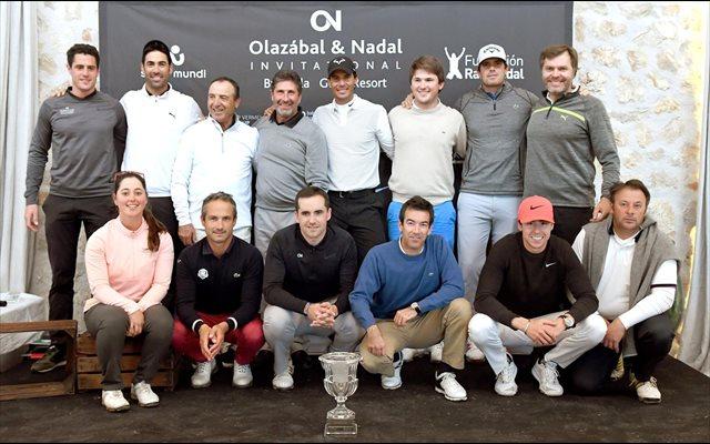 El equipo de Rafa Nadal gana la VI edición del torneo de golf solidario Olazábal&Nadal Invitational