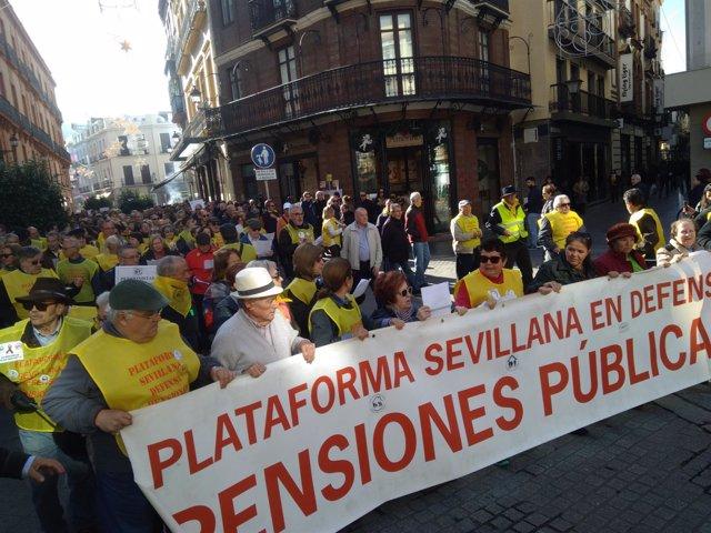 Manifestación por la defensa de las pensiones