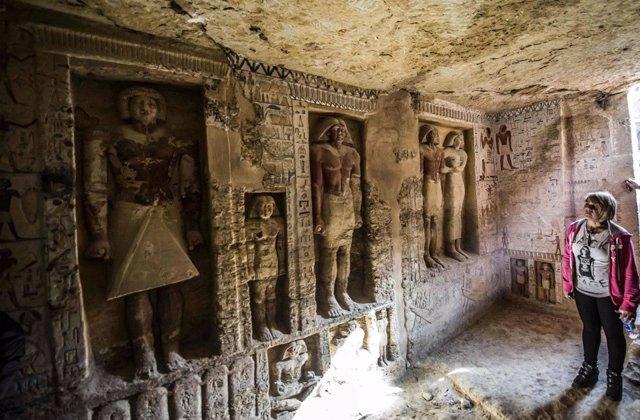 Hallazgo de la tumba de un sacerdote en Egipto