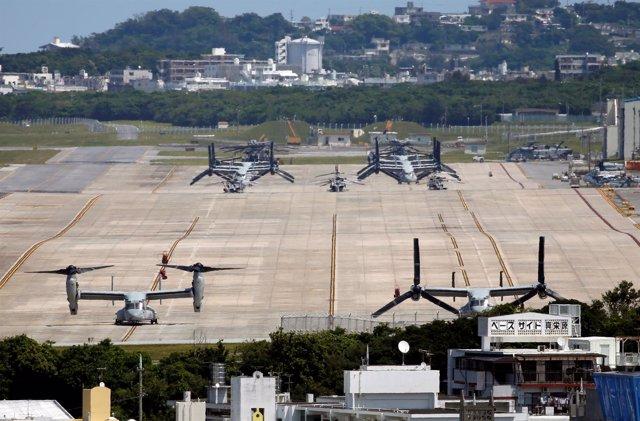 Aeronaves de combate de EEUU cerca de zonas habitadas en Okinawa