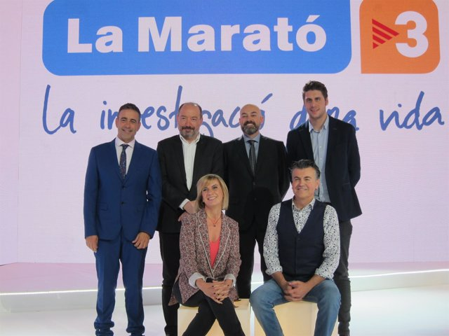 Presentación con La Marató, con V.Sanchis, S.Gordillo, R.Gener y G.Nierga