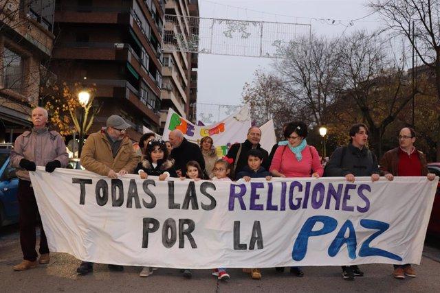 Marcha por la paz en Cáceres