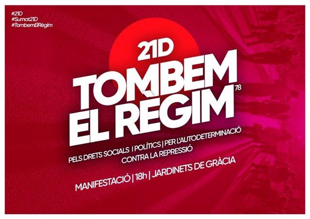 Convocatoria de la manifestación para el 21 de diciembre en Barcelona