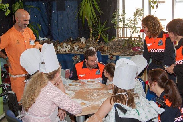 Niños participan en actividades navideñas del Virgen del Rocío