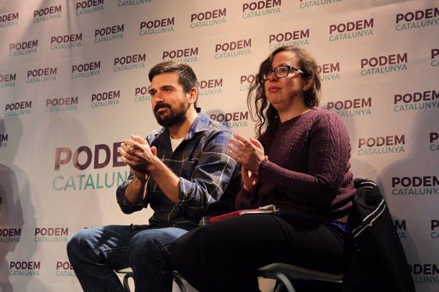 Ramón Espinar (Podemos) y Noelia Bail (Podem)