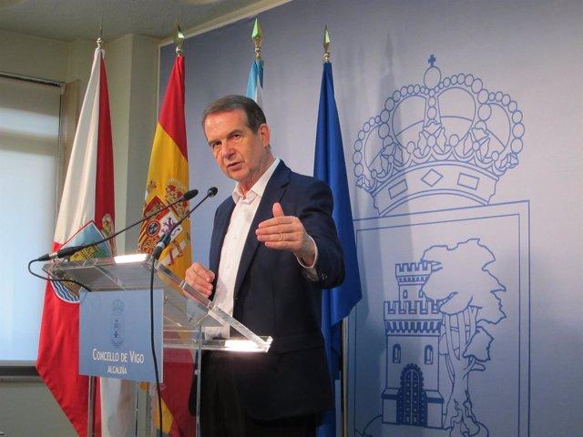 El alcalde de Vigo, Abel Caballero, en el Concello.