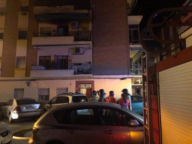 Incendio de una vivienda en Badajoz