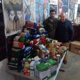 Campaña de alimentos de la Brigada Extremadura XI