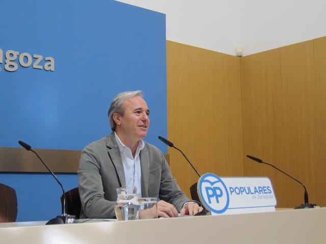 El concejal del PP, Jorge Azcón