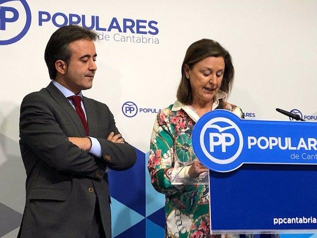 Diego Movellán y Ana Madrazo, diputados nacionales del PP por Cantabria