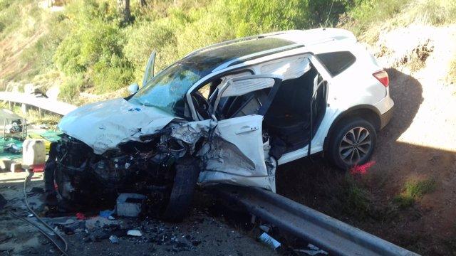 Muere un conductor en Sant Salvador de Guardiola (Barcelona)
