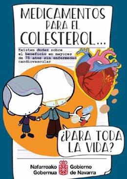 Cartel de la campaña sobre medicamentos para el colesterol