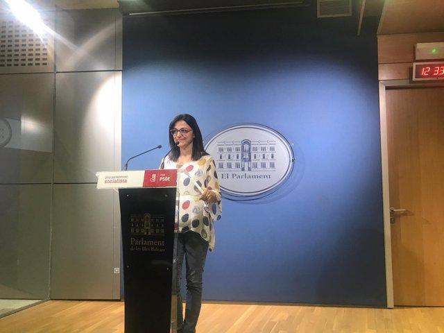 La portavoz del PSIB en el Parlament, Maria Jose Camps