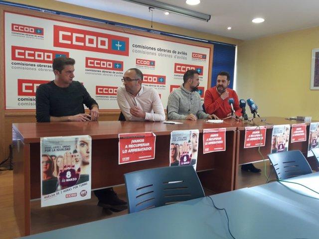 Responsables de CCOO de Industria de Asturias
